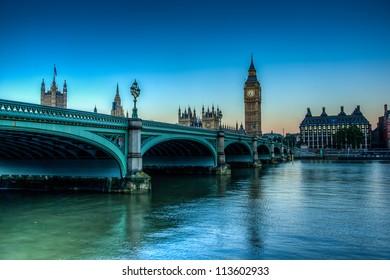 HDR Shot of westminster Bridge
