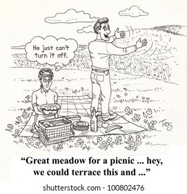 'he can never turn if off on picnic'