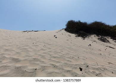 he Huacachina Oasis,  desert sand dunes near the city of Ica, Peru