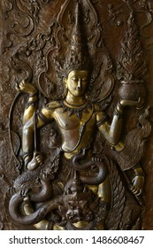 The head of Buddhism's history of Buddhism is carved from brass.