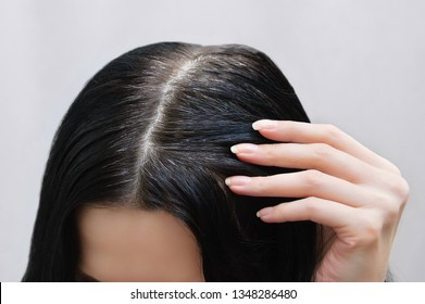 Gray Hair Roots Images, Stock Photos & Vectors | Shutterstock