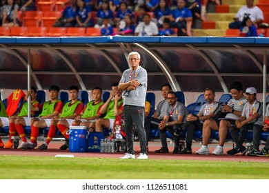 Head coach	Marcello Lippi of China in action during 2018The International Friendly Match between Thailand and China at the Rajamangala Stadium on June 2, 2018 in Bangkok,Thailand,