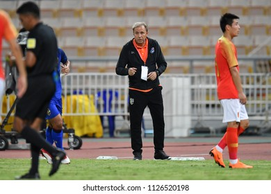 Head coach	Milovan Rajevac of Thailand in action during 2018The International Friendly Match between Thailand and China at the Rajamangala Stadium on June 2, 2018 in Bangkok,Thailand,