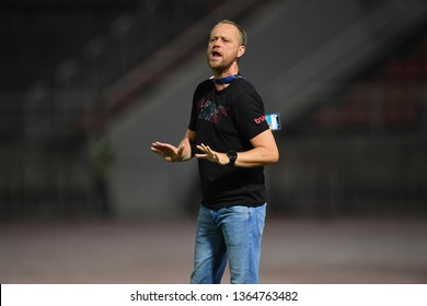 Head Coach 	Alexandre Polking of Bangkok United in action during The Football Thai League between Bangkok United and SCG Muangthong United at True Stadium on March 02,2019 in Pathum Thani, Thailand