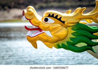 Head of a dragon on the bow of a dragon boa