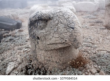 Head of Eagle - ancient stone statue on the top of Nemrut mount, Anatolia, Turkey