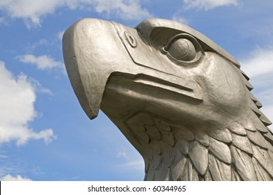 The head of the eagle that once stood on the top of the main terminal at Tempelhof airport in Berlin. It was modeled by the sculptor W. Lemke.