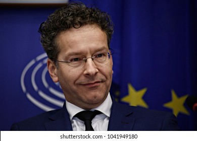 Head of the eurogroup Jeroen Dijsselbloem attends a meeting of the Committee on Economic and Monetary Affairs at the European Parliament in Brussels, Belgium on Mar. 21, 2017.