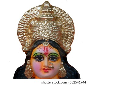 Head of Hindu goddess Durga