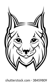 Head of lynx - abstract emblem. Vector version also available
