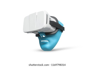 Head mask holding vr glasses