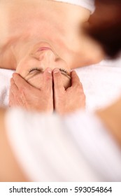 A Head Massage or osteopathy