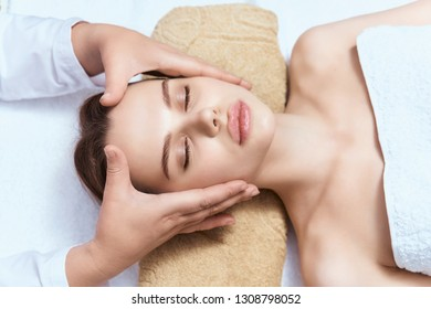 head massage for woman relax