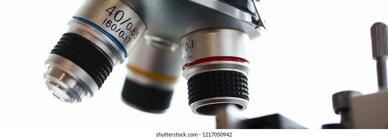 The head microscope on the background laboratory is a study human biology analyzes for non-compliance with the requirements organization public health at international level