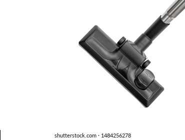 Head of modern vacuum cleaner on white. Top view.