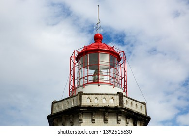Head of old vintage lighthouse