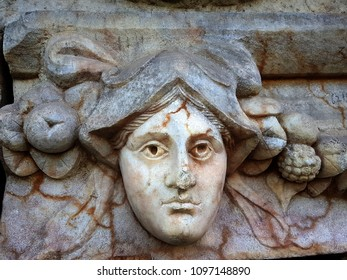 Head reliefs in ancient Afrodisias