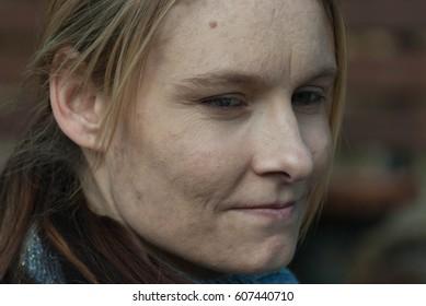 a head shot of a beautiful young woman