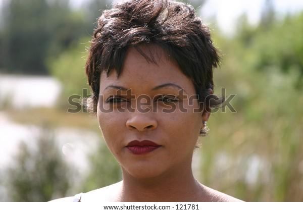 Head shot black female