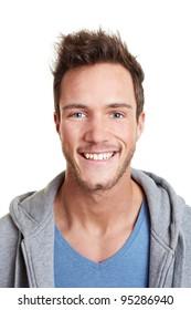 Head shot of happy smiling attractive man