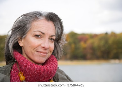 Head and shoulders of a mature woman