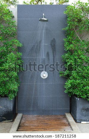 Head Shower Water Stream Swimming Pool Stock Photo (Edit Now ...