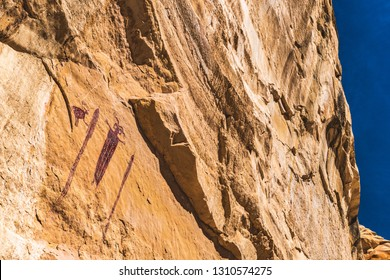 The Head of Sinbad, one of the most recognized Barrier Canyon Style anthropomorph pictographs in all of Utah, sits on a navajo sandstone canyon wall just off the i70 in the San Rafael Swell.