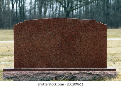 Head stone or grave stone with no identification