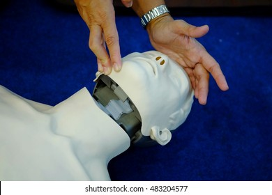 Head tilt//Chin lift maneuver is a basic method used in CPR (Cardiopulmonary resuscitation) to clear patient's airway.