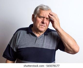headache. adult man. white background