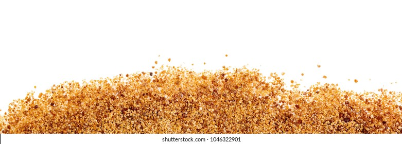header, coconut palm sugar on white background with copyspace