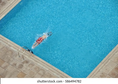 headfirst dive into pool