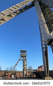 Headframe of C-mine in Belgium