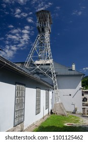 Headframe of the historic Jasek Franciscke mine in Idrija, Slovenia