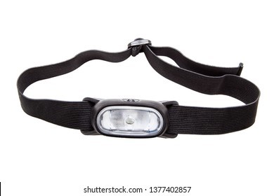 Headlamp flashlight isolated on white