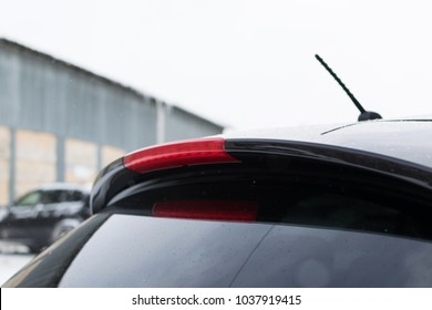 headlamp on the rear door of the car