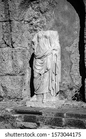 Headless Ancient Statue at Caesarea Maritima