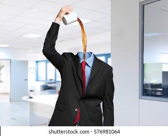 Headless coffee junkie