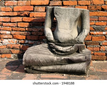 Headless statue at the Ancient capital of Thailand