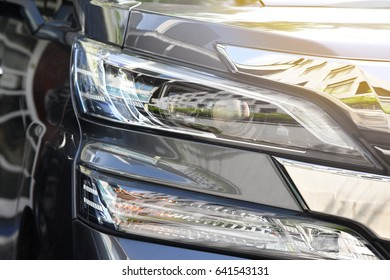 headlight of automobile