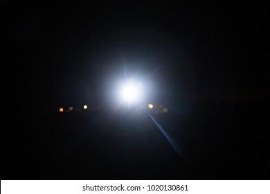 headlight in dark