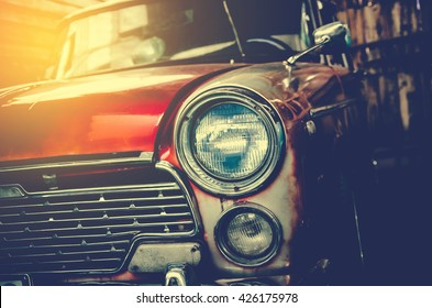 Headlight lamp vintage car