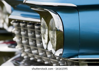 Headlight on a automobile from the fifties