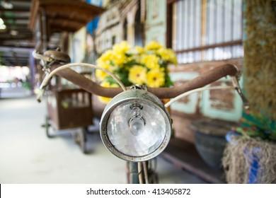 headlight vintage old bicycle