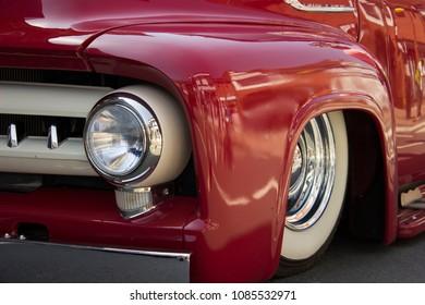 Headlight of vitage classic car