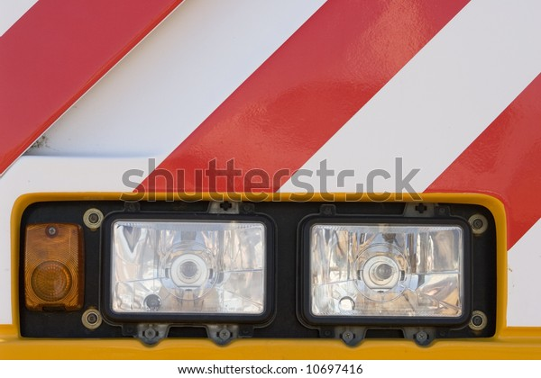 Headlights Mobile Crane Stock Photo (Edit Now) 10697416