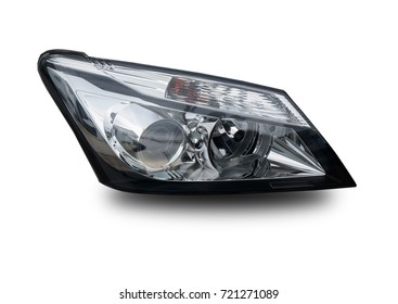 Headlights separated from the white background.