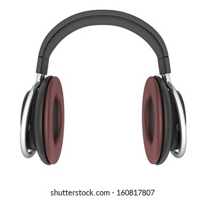 Headphone isolated view front (done in 3d)