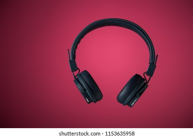 headphones isolated in air fly
