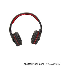Headphones isolated on the white background
